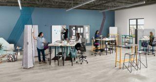 Obezbijedite privatnost ili dijelite ideje s kolegama pomoću Steelcase Flex kolekcije